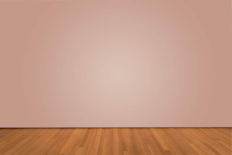 dřevěná podlaha ladí i k barevné zdi