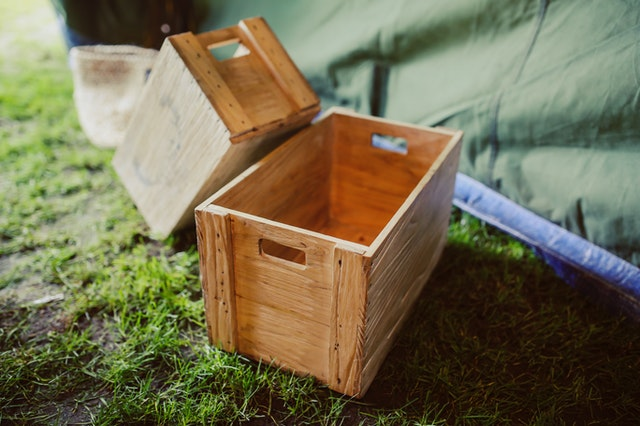 dřevěné bedničky
