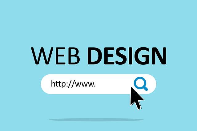 """velkým písmem napsaný """"design webu"""" nad kolonkou vyhledávání"""
