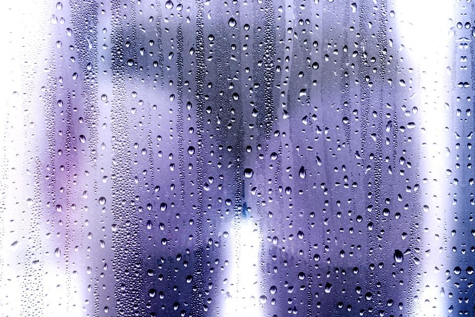 pozadí za sklem